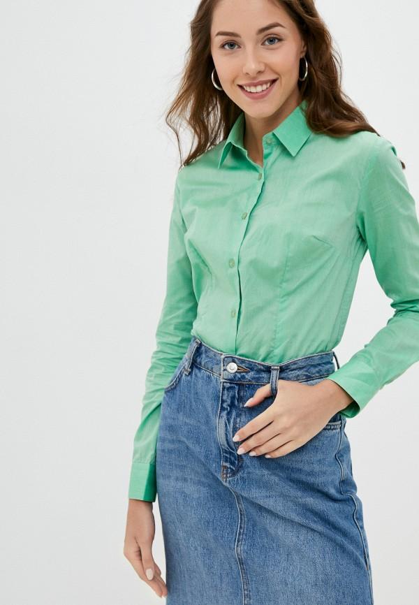 женская рубашка с длинным рукавом bawer, зеленая