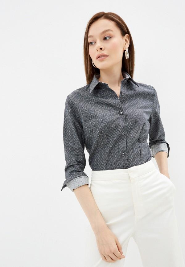женская рубашка с длинным рукавом bawer, серая