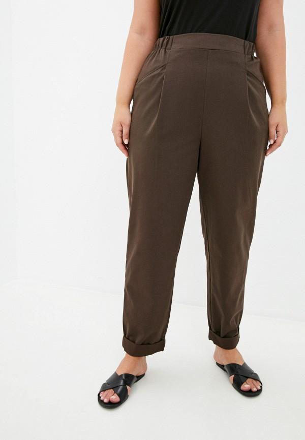 женские брюки клеш mark formelle, коричневые