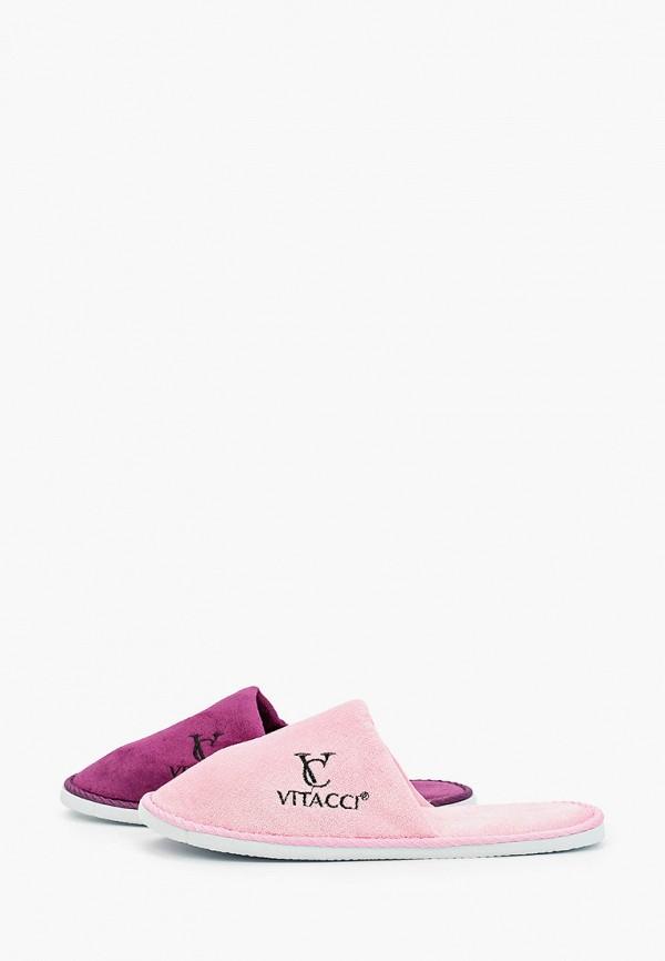 женские тапочки vitacci, разноцветные