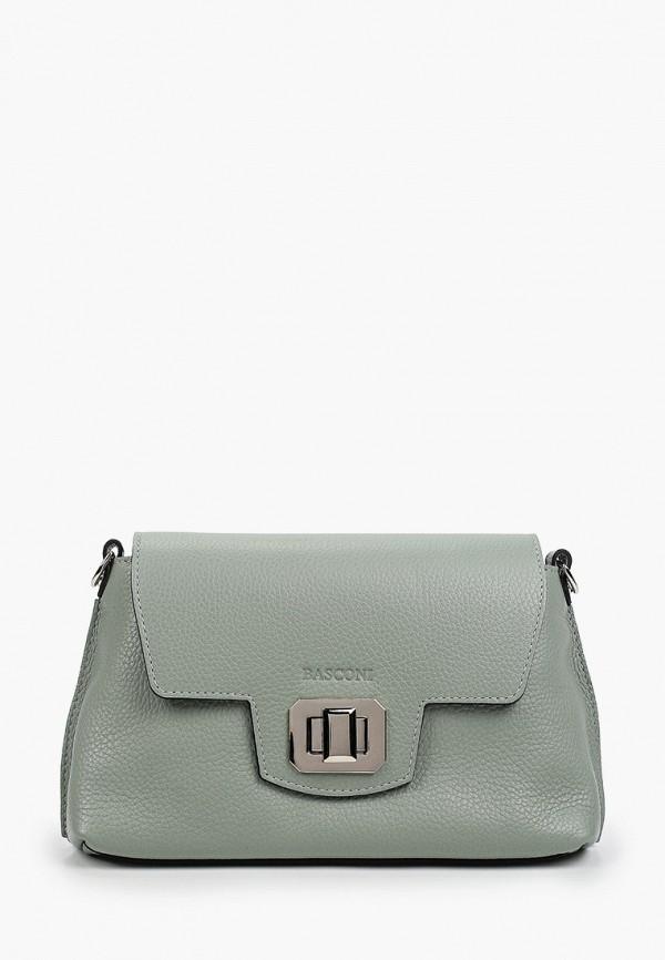 женская сумка через плечо basconi, зеленая