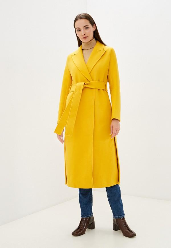 женское пальто vivaldi, желтое