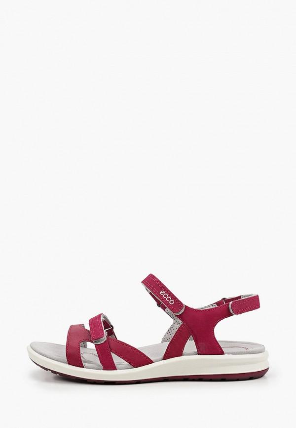 женские сандалии ecco, бордовые