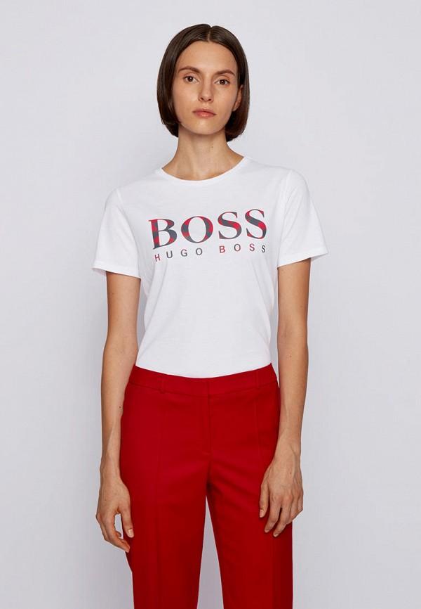 женская футболка boss, белая