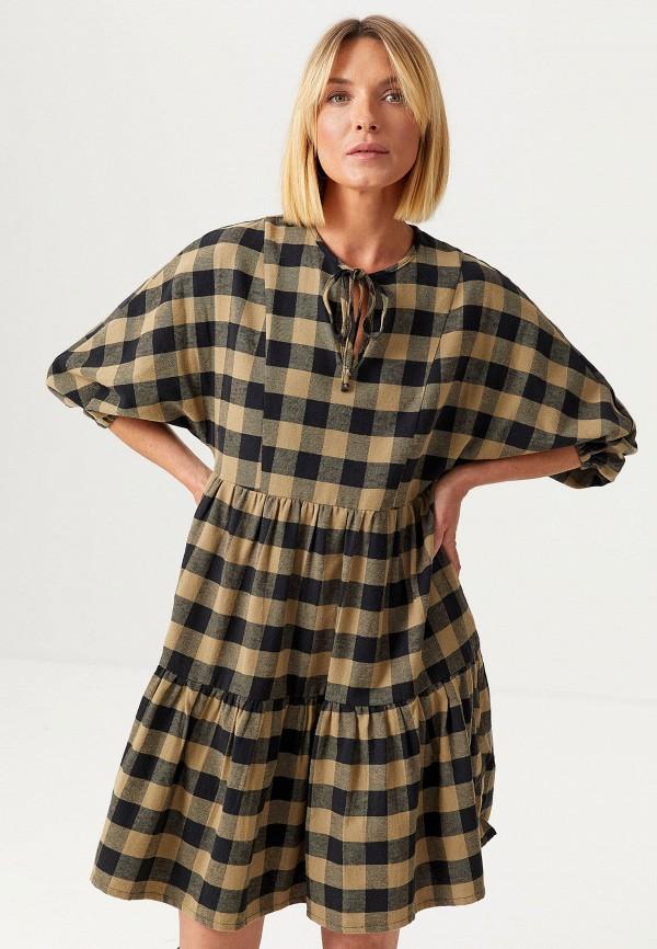 женское повседневные платье sela, хаки