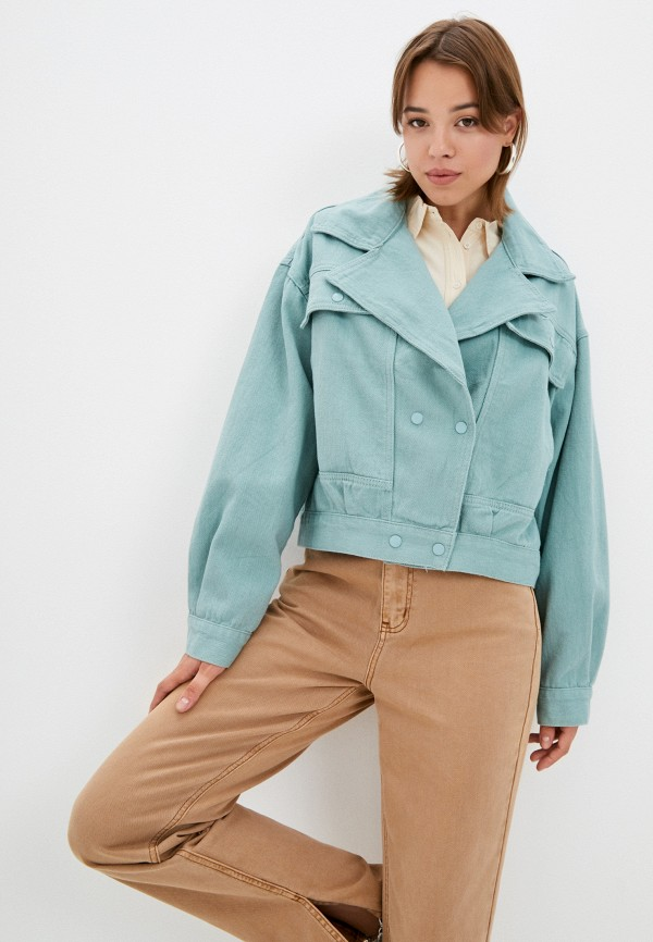 Куртка джинсовая Grafinia бирюзового цвета