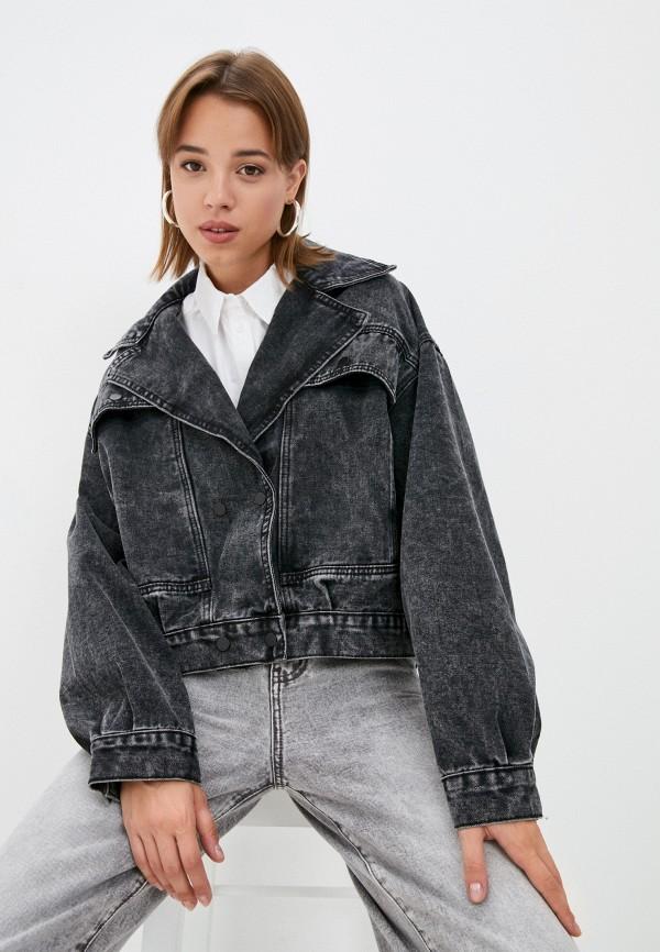 Куртка джинсовая Grafinia серого цвета