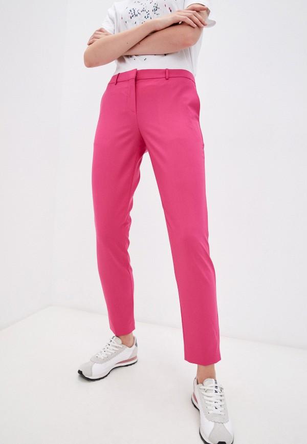 женские зауженные брюки boss, розовые