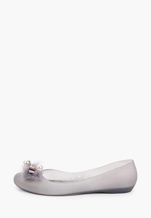 женские балетки king boots, серые