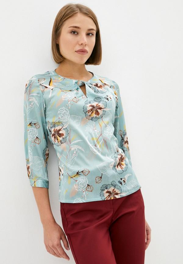 женская блузка с длинным рукавом mironi, бирюзовая