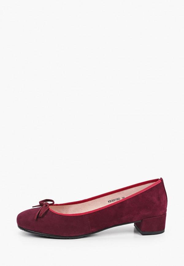 женские туфли с закрытым носом king boots, бордовые