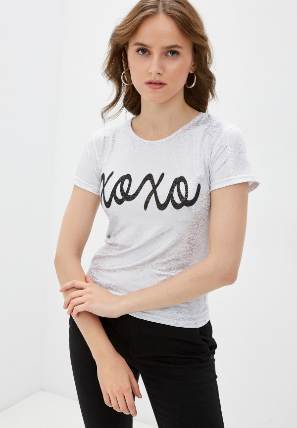 женская спортивные футболка blacksi, серебряная