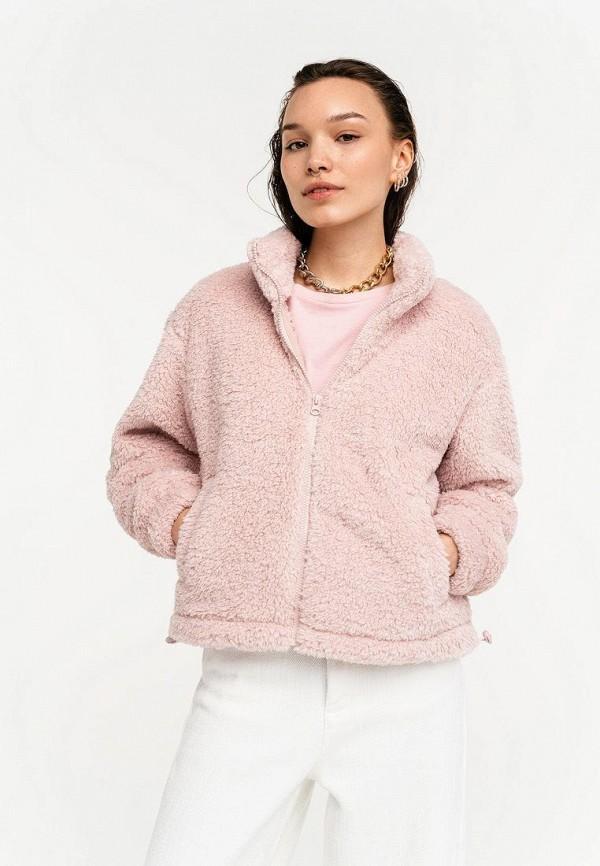 женская шуба befree, розовая