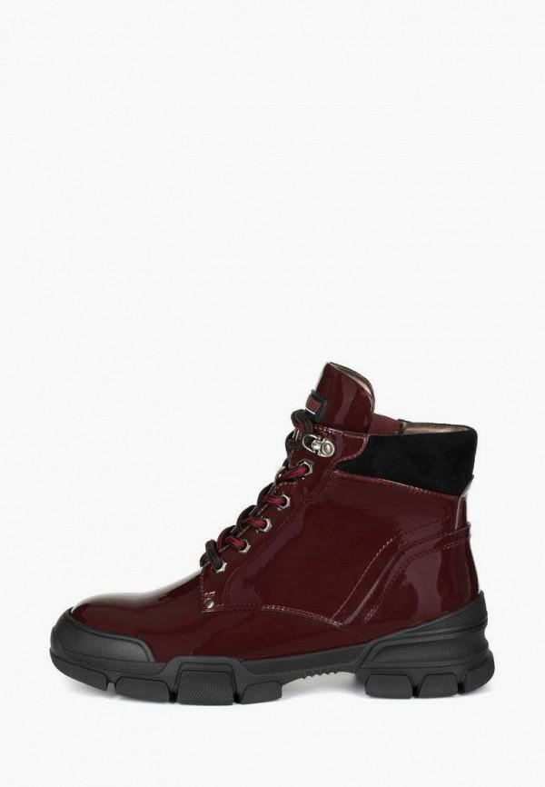 женские высокие ботинки t.taccardi, бордовые