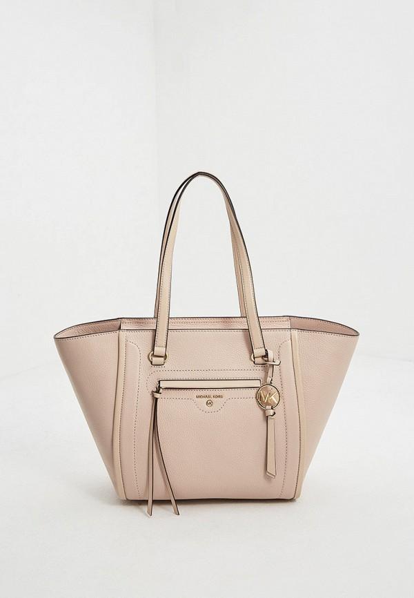 женская сумка-шоперы michael kors, розовая