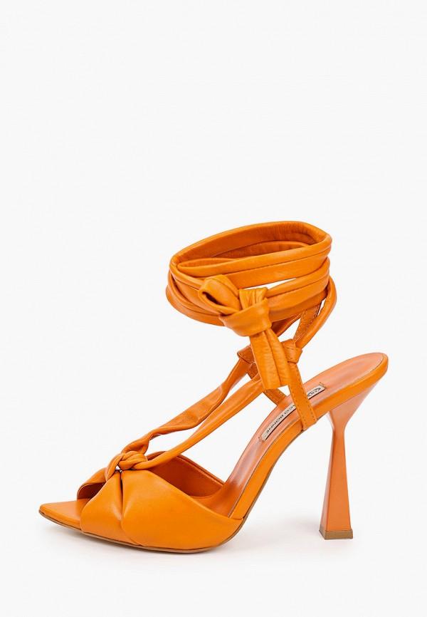 женские босоножки marco bonne', оранжевые