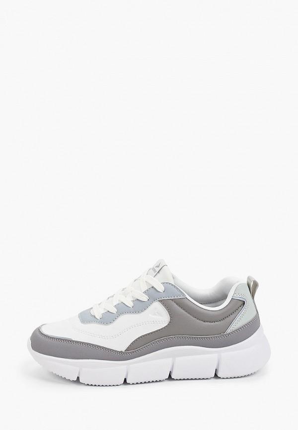 женские низкие кроссовки demix, серые