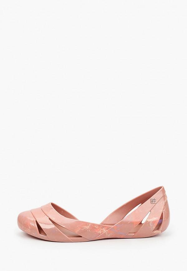 женские балетки zaxy, розовые