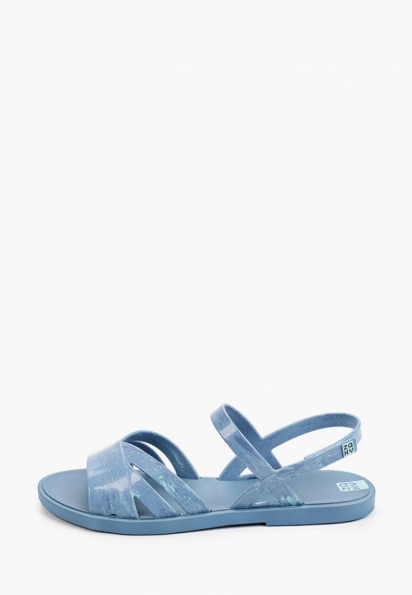 женские сандалии zaxy, голубые
