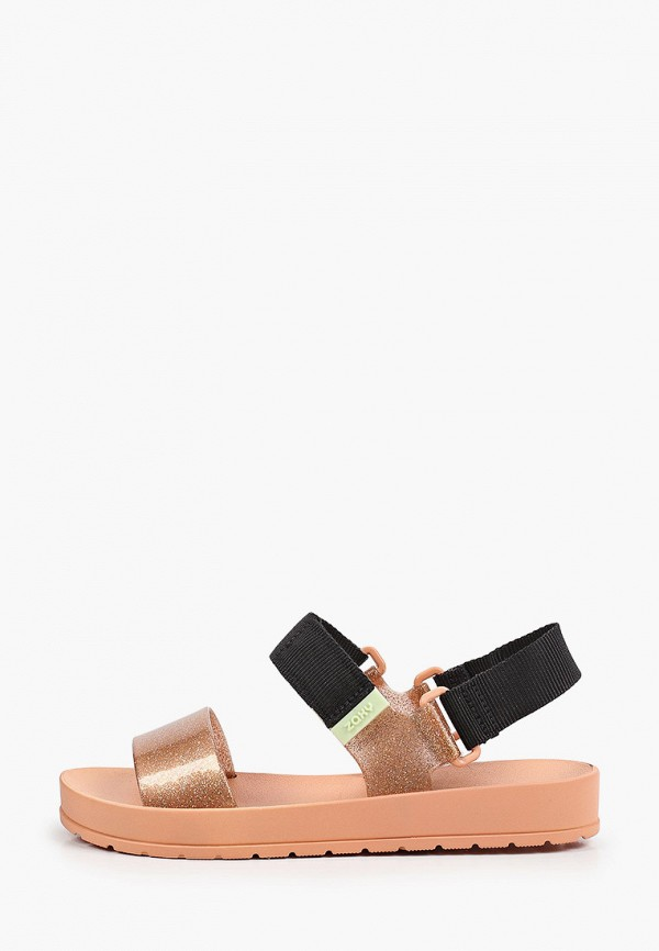 женские сандалии zaxy, золотые