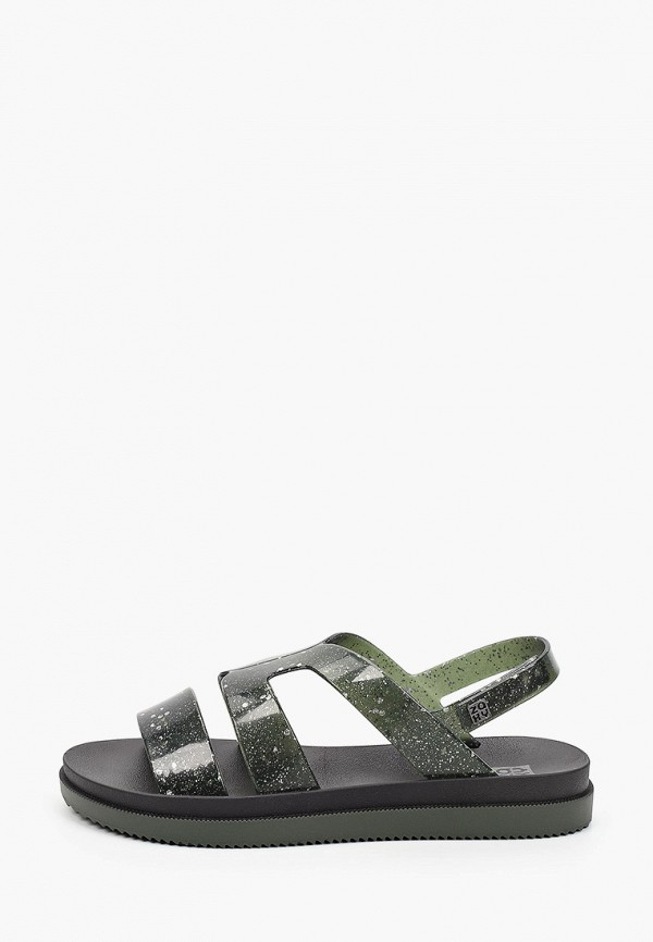 женские сандалии zaxy, зеленые