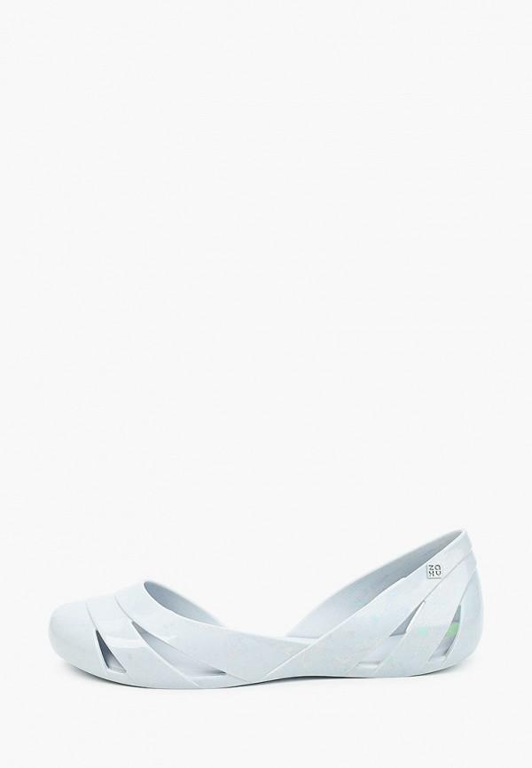 женские балетки zaxy, серые