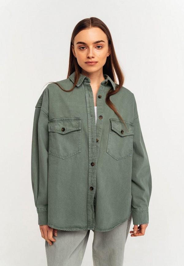 женская джинсовые рубашка befree, зеленая