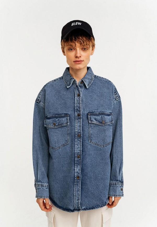 женская джинсовые рубашка befree, синяя