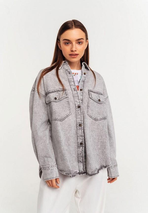 женская джинсовые рубашка befree, серая