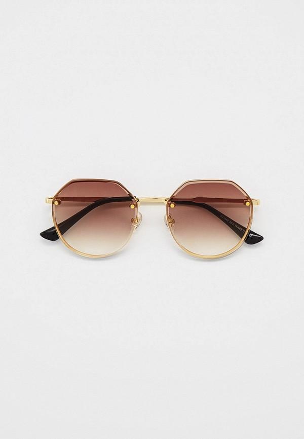 женские круглые солнцезащитные очки ruxara, золотые