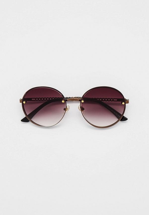 женские круглые солнцезащитные очки ruxara, коричневые