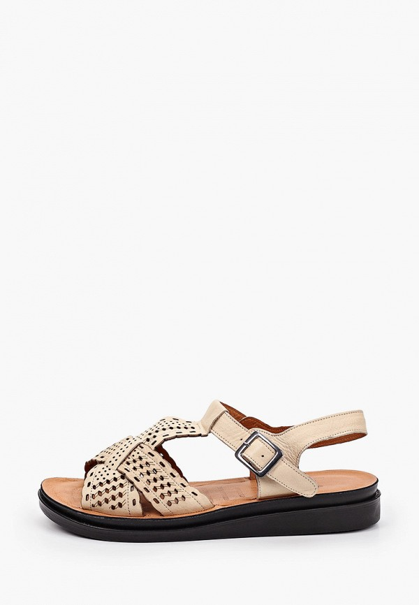 женские сандалии ascalini, бежевые