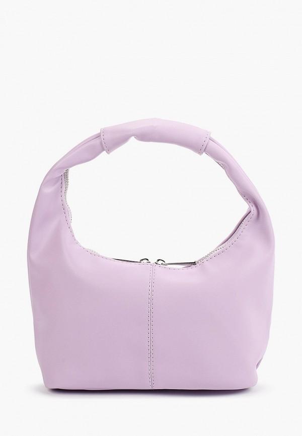 женская сумка с ручками befree, фиолетовая