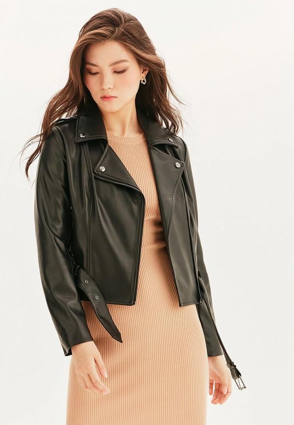 Куртка кожаная Love Republic черного цвета
