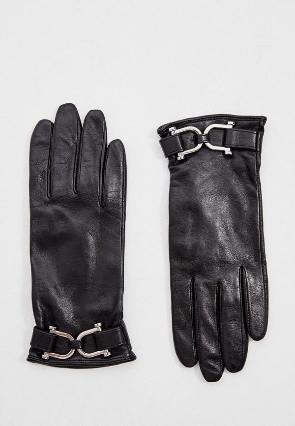 женские кожаные перчатки boss, черные