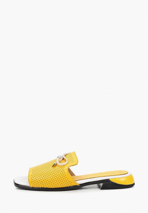 женское сабо stivalli, желтое