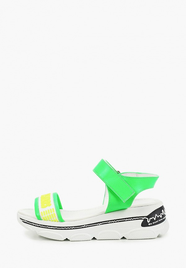 женские сандалии stivalli, зеленые