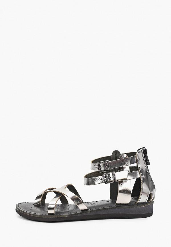 женские сандалии stivalli, серебряные