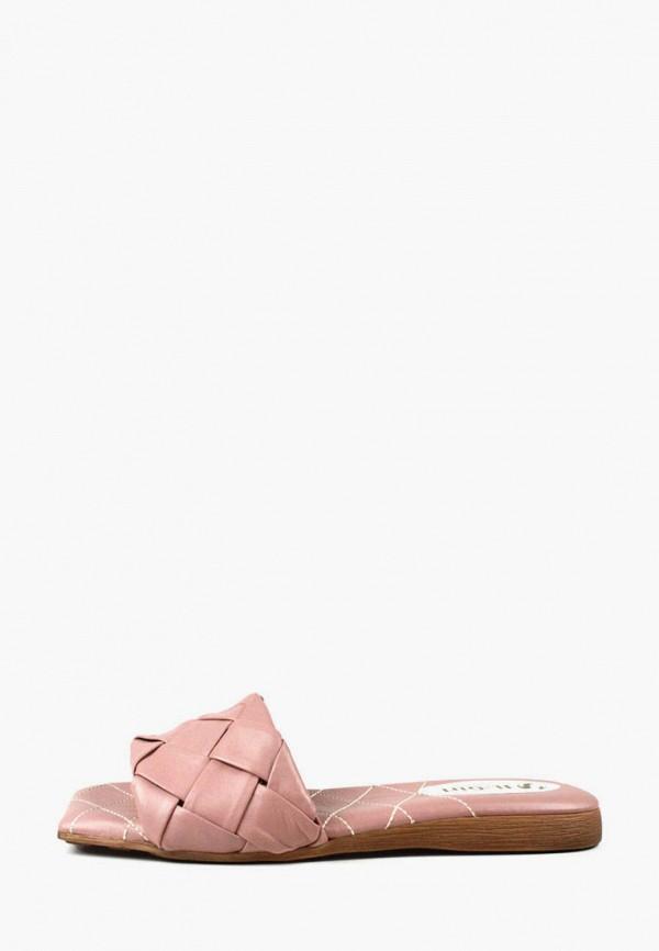 женское сабо it-girl, розовое