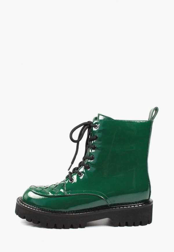 женские ботинки it-girl, зеленые
