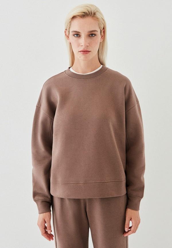 женский свитшот zarina, коричневый