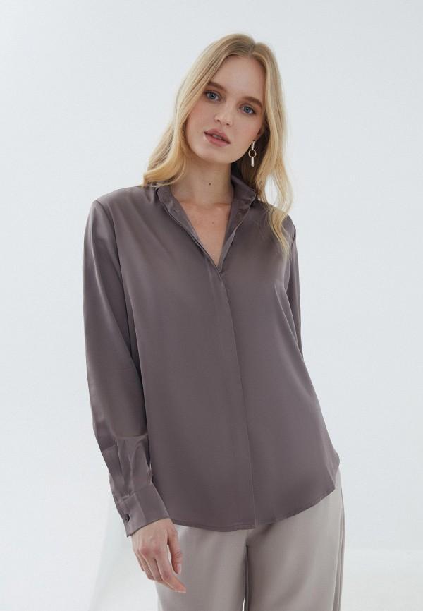 женская блузка с длинным рукавом zarina, серая