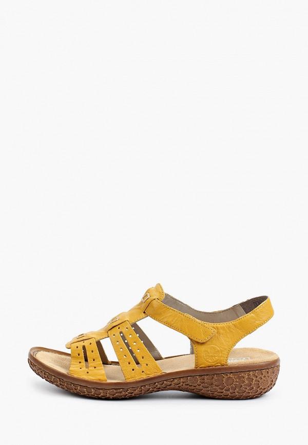 женские сандалии rieker, желтые