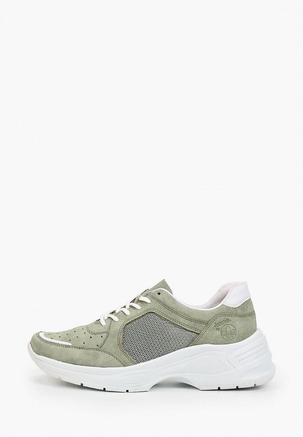 женские низкие кроссовки rieker, зеленые