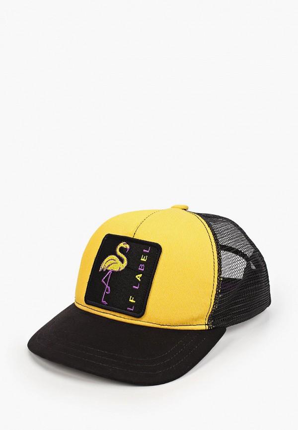 женская бейсболка lf-label, желтая