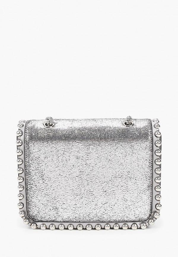 женская сумка с ручками vitacci, серебряная