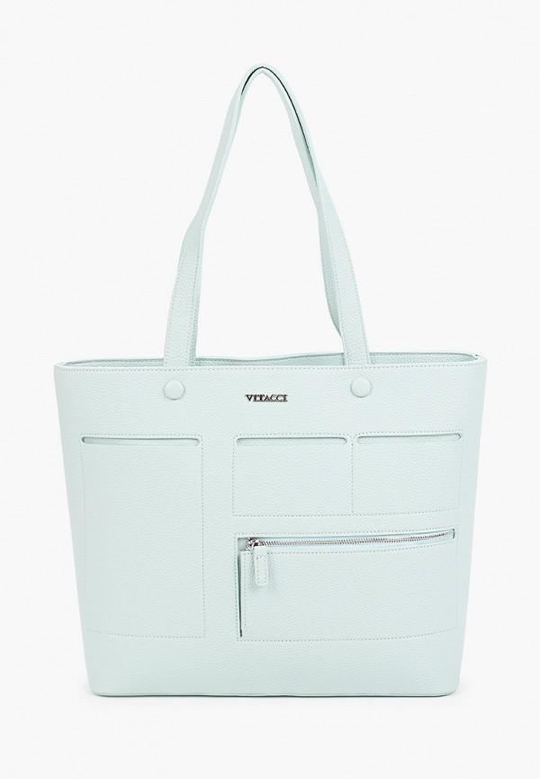 женская сумка-шоперы vitacci, бирюзовая