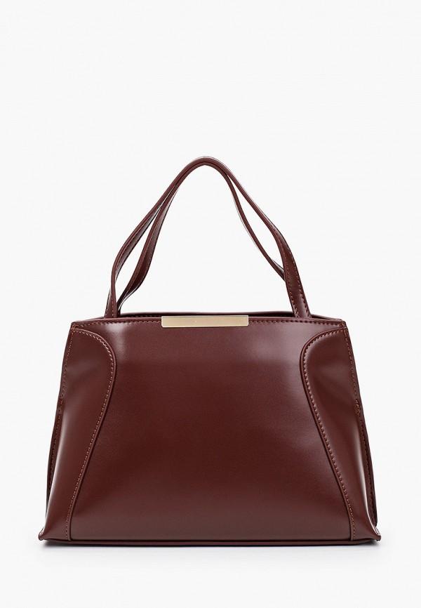 женская сумка с ручками vitacci, бордовая