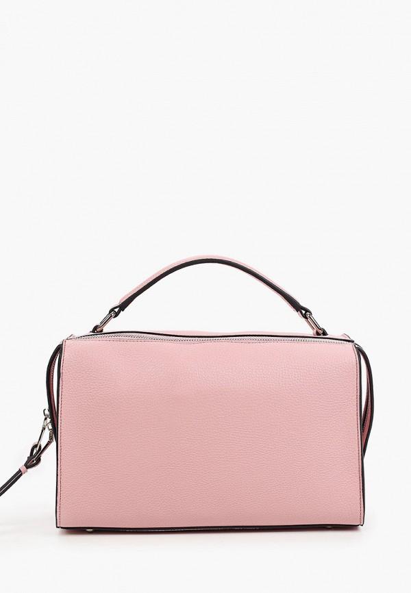женская сумка с ручками vitacci, розовая