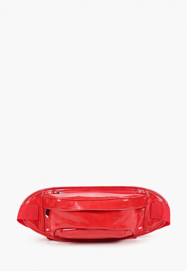 женская поясные сумка vitacci, красная